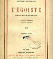 Egoiste by George Meredith